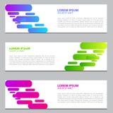 Sztandaru projekt z gradientowymi kolorami Nowożytny szablonu projekt 10 eps ilustracja wektor