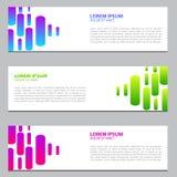 Sztandaru projekt z gradientowymi kolorami Nowożytny szablonu projekt 10 eps royalty ilustracja
