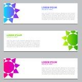 Sztandaru projekt z gradientowymi kolorami Nowożytny szablonu projekt 10 eps ilustracji