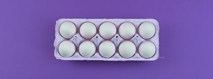 Sztandaru Prostokątny pudełko z kurczaków jajkami Obrazy Royalty Free