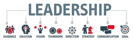 Sztandaru przywódctwo pojęcie royalty ilustracja