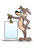 sztandaru pustego miejsca psa mienie Zdjęcia Royalty Free