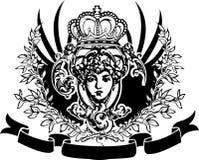 sztandaru rocznik dekoracyjny ozdobny ilustracja wektor