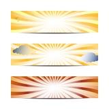 sztandaru słońce Zdjęcie Royalty Free