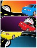 sztandaru samochód Zdjęcia Stock