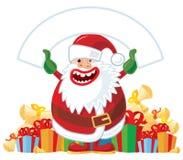 sztandaru Santa biel ilustracja wektor