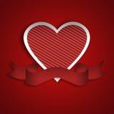 sztandaru serca czerwień Zdjęcie Royalty Free