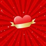 sztandaru serce Obrazy Royalty Free