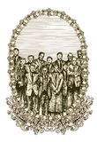sztandaru społeczeństwo Obraz Royalty Free