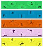 Sztandaru sport obrazy stock