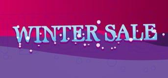 sztandaru sprzedaży zima Zdjęcia Royalty Free
