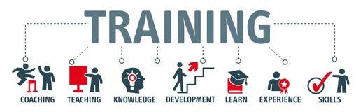 Sztandaru szkolenie i uczenie pojęcie ilustracja wektor