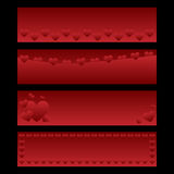 sztandaru valentine Obrazy Stock