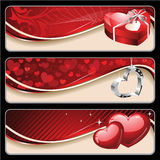 sztandaru valentine s Fotografia Royalty Free