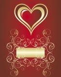 sztandaru valentine s Obrazy Stock