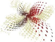 sztandaru wektor halftone czerwieni wektor Obraz Royalty Free