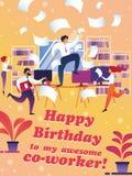 Sztandaru wszystkiego najlepszego z okazji urodzin mój wspaniały coworker ilustracji