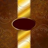 sztandaru złoty wiktoriański rocznik Zdjęcia Stock