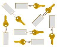 sztandaru złotego klucza set Zdjęcia Stock