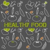 Sztandaru zdrowy jedzenie również zwrócić corel ilustracji wektora Zdjęcia Stock