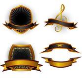 sztandarów emblematy ustawiający wektor Obraz Stock
