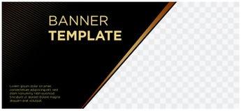 Sztandary czarni i złocista chodnikowiec strony internetowej firmy reklama landscape-06 royalty ilustracja