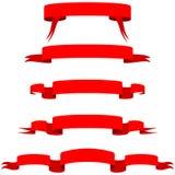 sztandary czerwoni Zdjęcia Royalty Free