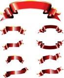 sztandary czerwoni Obraz Royalty Free