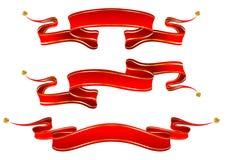 sztandary czerwoni Obrazy Royalty Free