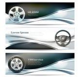 Sztandary dla samochód usługa Ilustracja Wektor