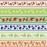 sztandary fruit set Obrazy Stock