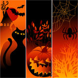 sztandary Halloween Zdjęcia Stock