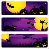 sztandary Halloween Ilustracji