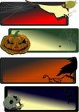 sztandary Halloween Zdjęcia Royalty Free