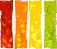 sztandary jesień sztandary royalty ilustracja