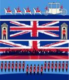 sztandary jubileuszowi Zdjęcia Royalty Free