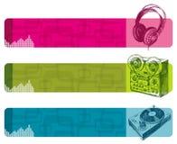 sztandary muzykalni Zdjęcia Royalty Free