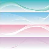 sztandary różni eleganccy cztery gładki Obrazy Royalty Free