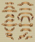sztandary starzy Ilustracja Wektor