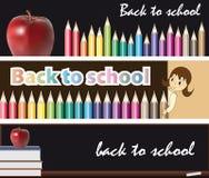 Sztandary szkoła - z powrotem Zdjęcia Stock
