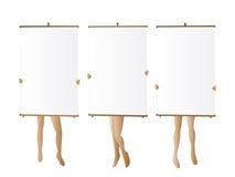 sztandary target2978_1_ trzy kobiety Obrazy Stock