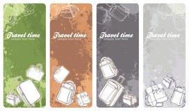 sztandary ustawiająca podróż ilustracja wektor