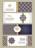 Sztandary ustawiający etniczny projekt Religii abstrakcjonistyczny ustawiający układ royalty ilustracja