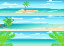 sztandary ustawiają tropikalnego Obraz Stock