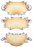 sztandary ustawiają trzy ilustracja wektor