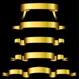 sztandary złoci Zdjęcie Stock