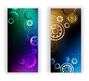 Sztandary z kolorowymi przekładniami Obraz Royalty Free