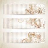 Sztandary z wirować kształty Zdjęcie Royalty Free