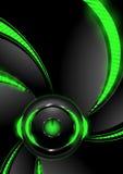 Sztandary z zielonym abstrakcjonistycznym tłem Obrazy Stock
