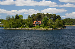 Sztokholm archipelag, lato dom (2) Obraz Royalty Free